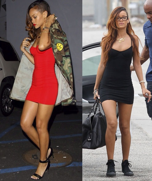 Rihanna in the #AmericanApparel Cotton Spandex Bustier Dress!  #Rihanna #bustierdress