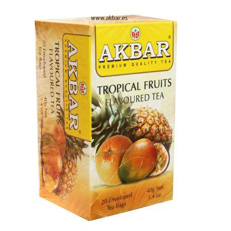Té negro Akbar con sabor a frutas tropicales
