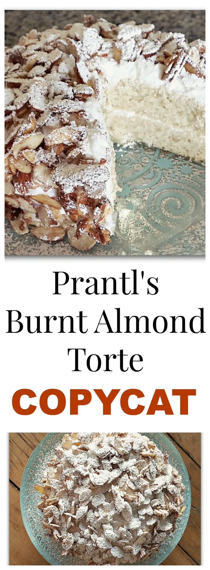 Pittsburgh's Prantl's Bakery Copycat - World Famous Burnt Almond Torte. You'll be surprised how easy this recipe is! It really is the best tasting cake ever...