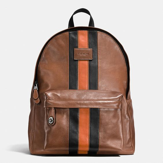 Cool father's day tech gifts for the laptop user who's not a briefcase guy: Varsity Style Leather Laptop Backpack