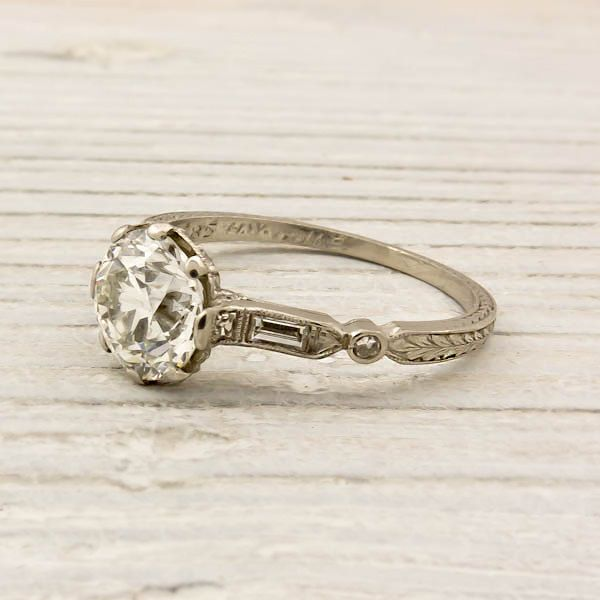 Vintage 140 Carat Old European Cut Diamond by ErstwhileJewelry, $11,000.00 This is perfect!