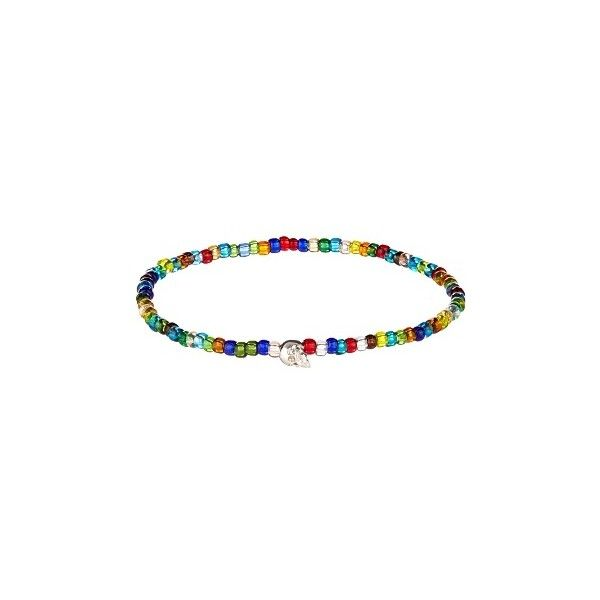 Luis Morais Bead and white-gold bracelet ($200) ❤ liked on Polyvore featuring men's fashion, men's jewelry, men's bracelets, mens bead bracelets, mens skull bracelets and mens white gold bracelets