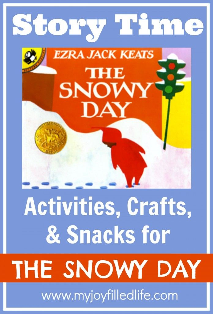 Lots of Story Time Activities, Crafts, and Snacks to go along with The Snowy Day. #thesnowyday #storytime