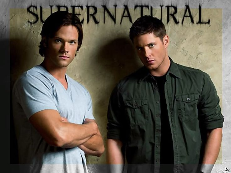 Supernatural: Jared Padalecki and Jensen Ackles The show is on Netflix instant and is pretty addicting.