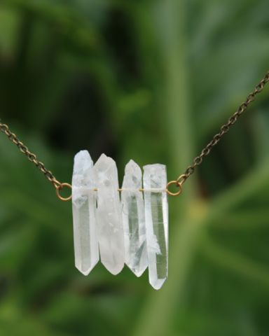 4 Quartz Point Necklace – Bohemian Tapestry