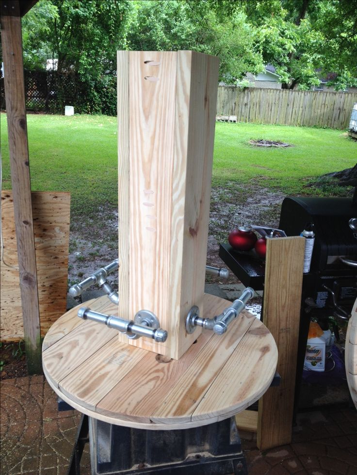Mounted The Table Support To The Base ( Using My Kreg Jig, Man I Love