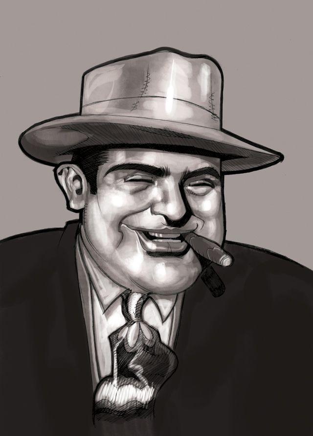 Chicago Gangster Al_Capone by Dessin75.deviantart.com on ...