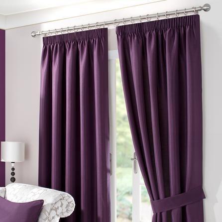 Blackcurrant Sorrento Lined Pencil Pleat Curtains | Dunelm
