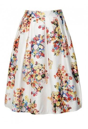 #Fusta cu model #floral Allegra, cu pliuri largi, este alegerea ideala pentru zilele de vara!Comanda si tu pe #TopFashion!