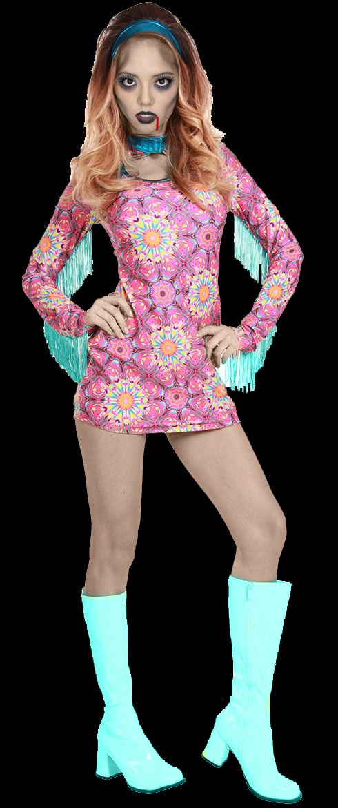 Summer Of Love Costume, 60S Dress, Hippie Costume The -2151