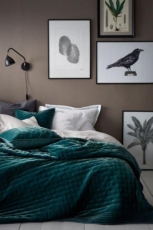 Ellos Home Överkast Greta i tvättad sammet 180x260 cm