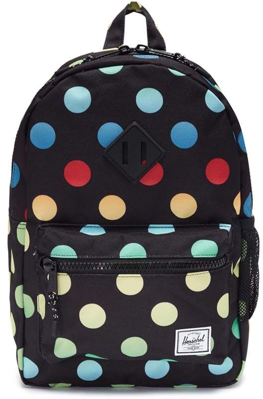 76155edf158b The Herschel Supply Co. Brand  Heritage  polka dot print canvas 16L kids  backpack  holdall equipped ample