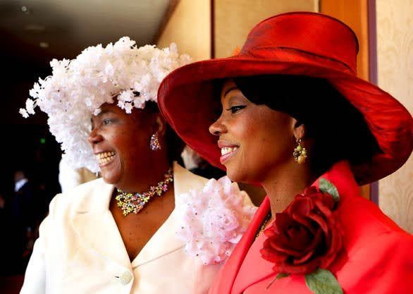 Church hats...y'all know y'all sisters can rock a hat at church...