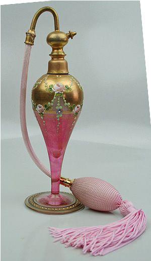 Botella de perfume con pulverizador