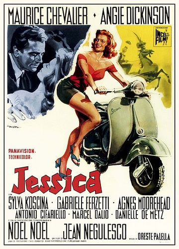 "Angie Dickinson ride in ""Jessica"""