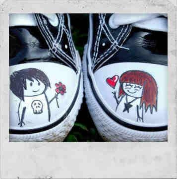guy-girl tennis shoes