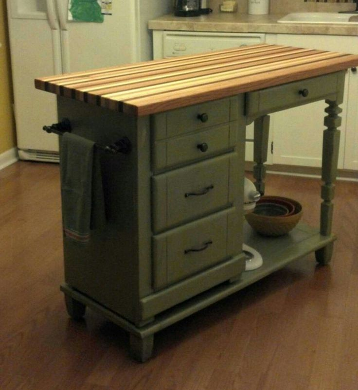 Desk to Island conversion  Kitchen and pantry  Diy
