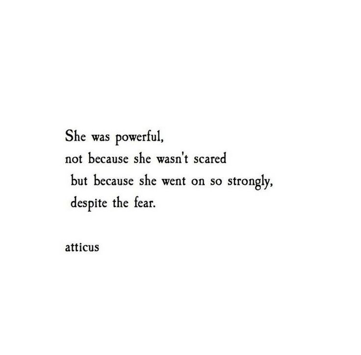atticus quote. fear and strength