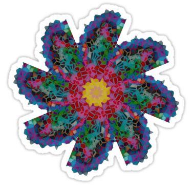 Mosaic Flower Sticker by StickerNuts