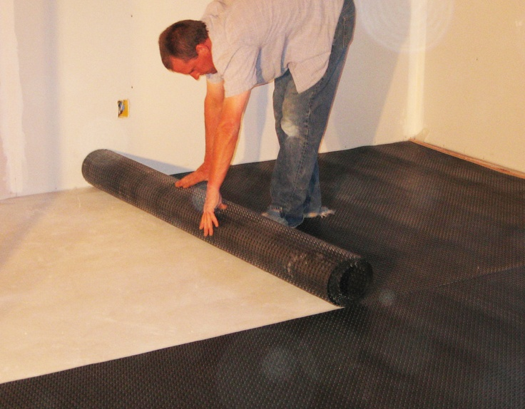 Superseal's AllInOne Subfloor being installed for