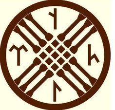 (Tengri) the symbol of Tengri. Old Turk, Korea, Mongol, Siberia God.