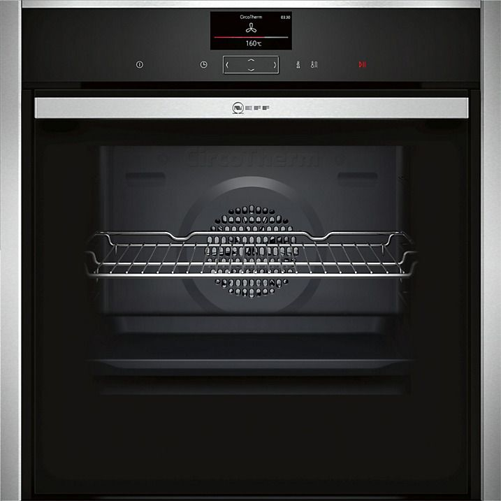 Buy Neff B57CS24N0B Slide and Hide Single Electric Oven with Steam Function, Stainless Steel Online at johnlewis.com