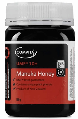 Comvita UMF® 10+ Manuka Honey is produced in New Zealand and contains unique plant phenols.  Comvita UMF® 10+ Manuka Honey is guaranteed to be at least UMF® 10+ and has been verified by an independent testing laboratory.