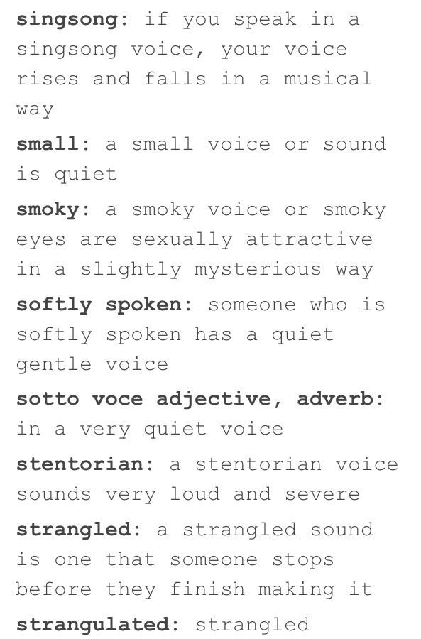 Words to describe someone's voice 6