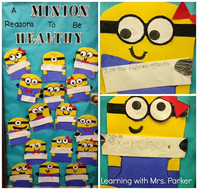 A Minion Reasons To Be Healthy and More - Learning With Mrs. Parker