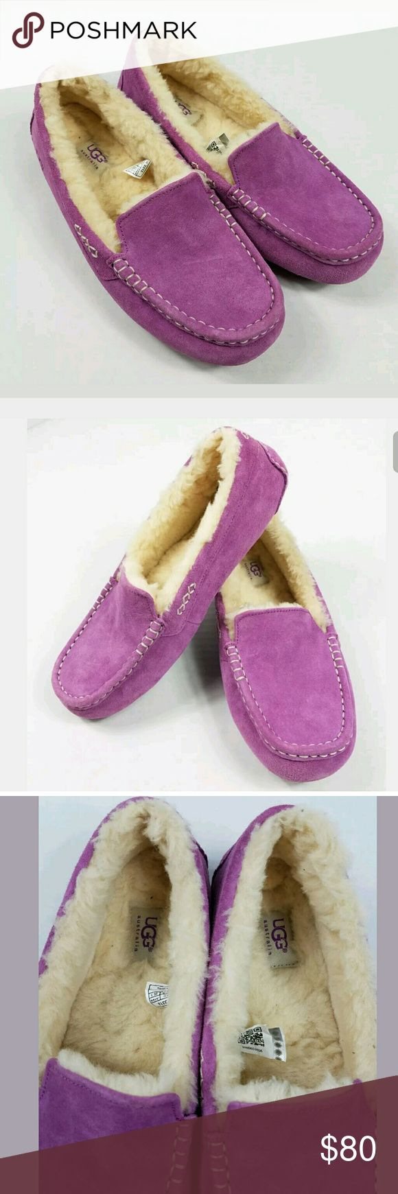 UGG Australia Ansley Purple Slipper 10M These are in good used condition. There are scuffs at the toe. UGG Shoes Slippers
