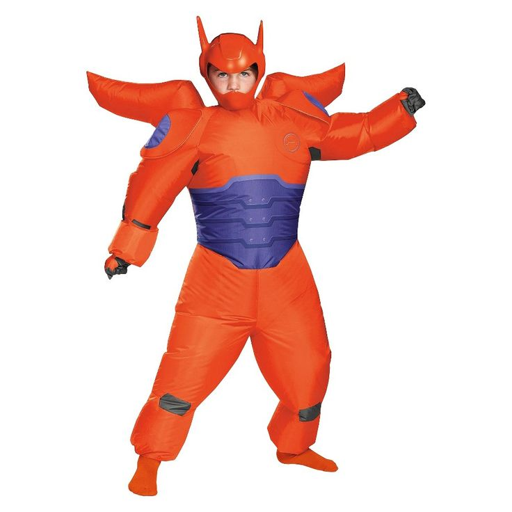 Baymax Big Hero 6: Baymax Inflatable Boys' Costume - Red - One Size Fits Most, Boy's