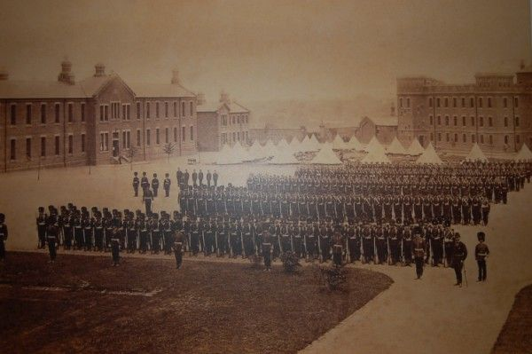 Opening of the Regimental Barracks Hightown.