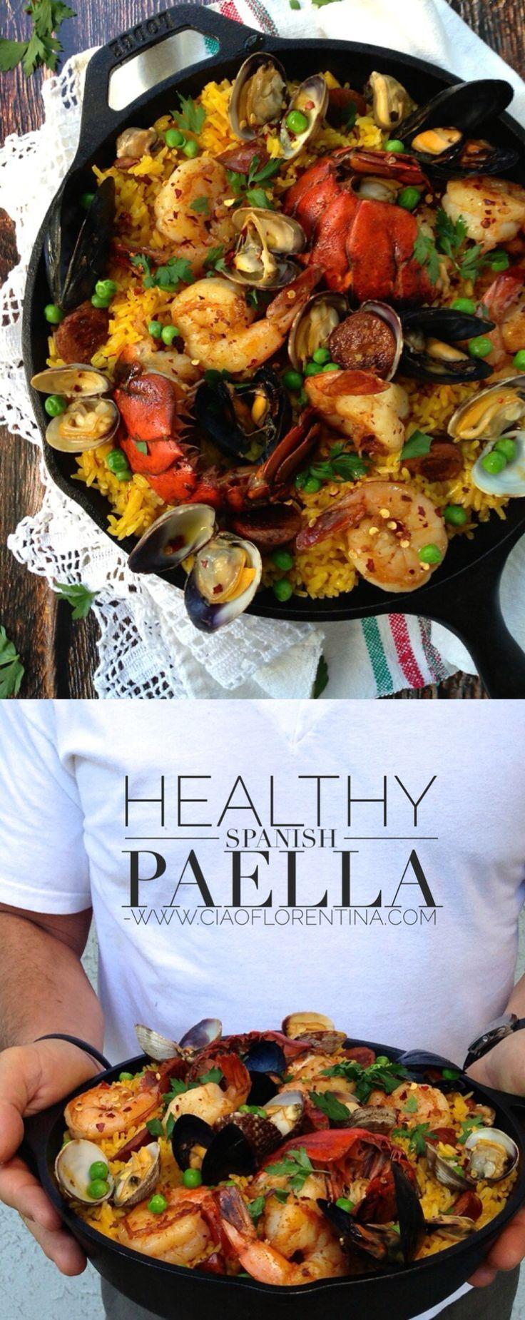 Traditional Healthy Spanish Paella Recipe | CiaoFlorentina.com..., ,