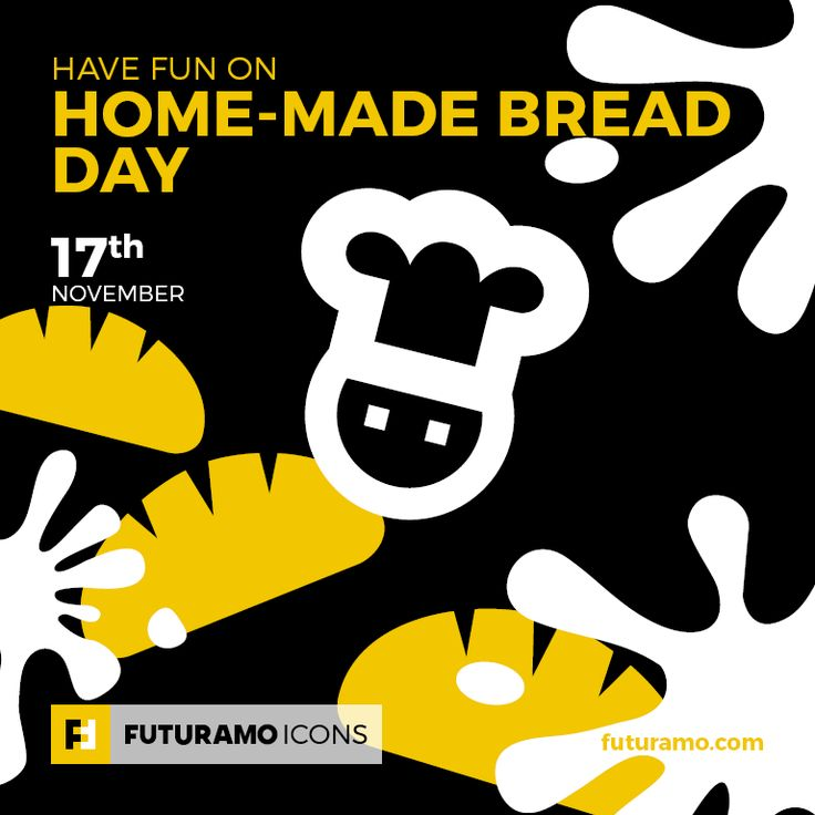 Have fun on Home-Made Bread Day! All #icons used in the series are available in our App. Imagine what YOU could create with them! Check out our FUTURAMO ICONS – a perfect tool for designers & developers on futuramo.com #icondesign  #icons  #iconsystem  #pixel #pixelperfect  #flatdesign  #ux  #ui  #uidesign  #design #developer  #webdesign  #app  #appdesign #graphicdesign
