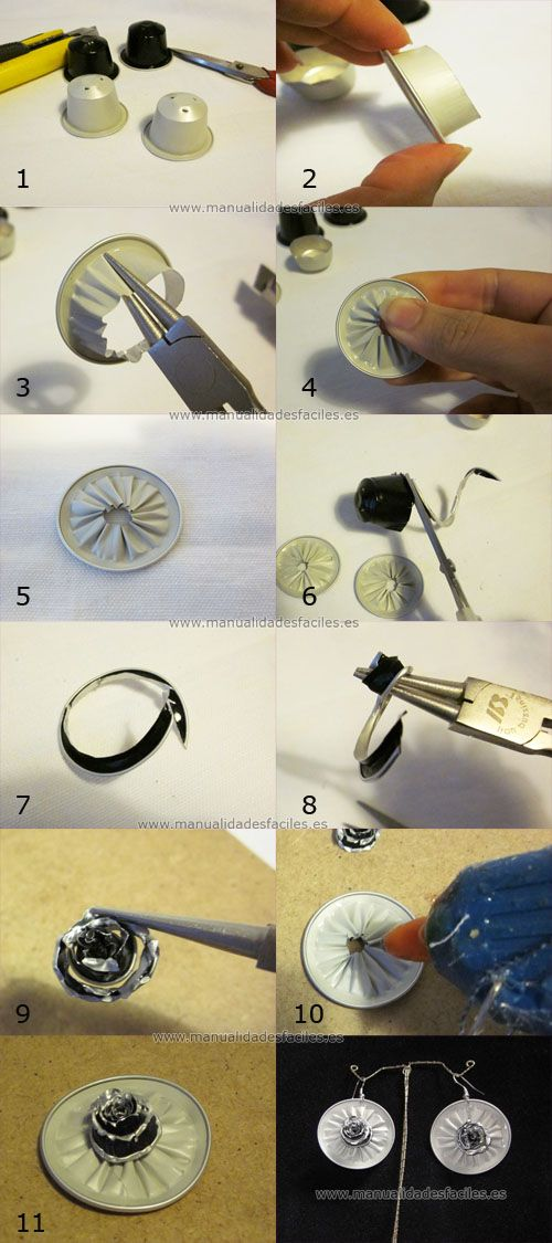 Earrings Nespresso (Tutorial)