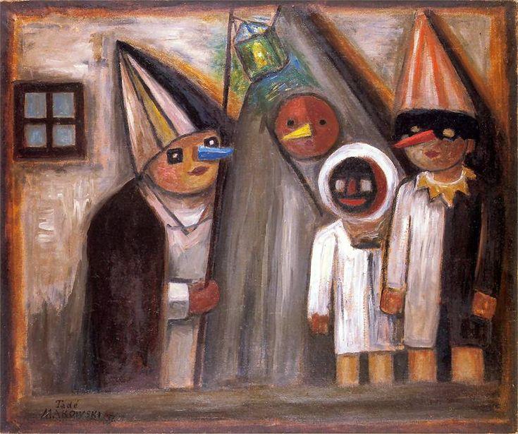 Maskarada w mroku. Obraz z 1931 roku.