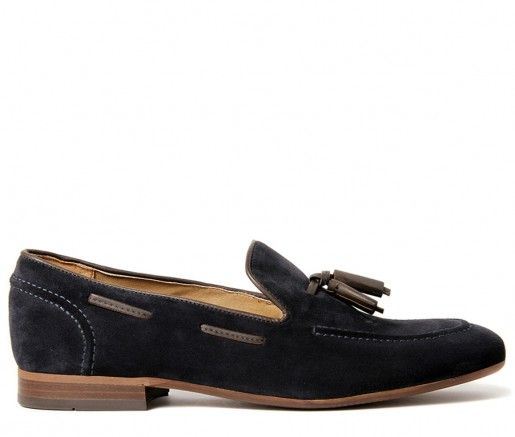 Pierre Suede Navy Loafer