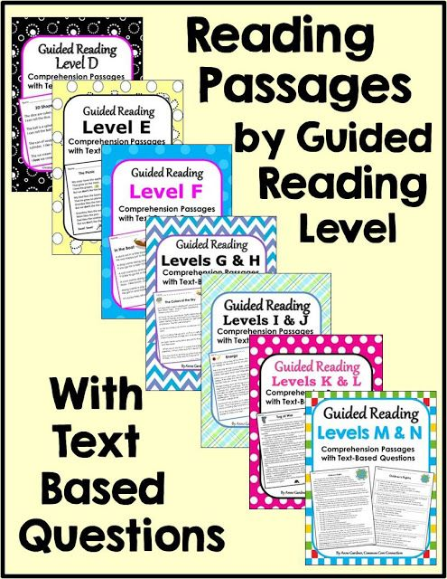 Reading Comprehension Passages by Guided Reading Level.  Also available as iPad apps.  ($)