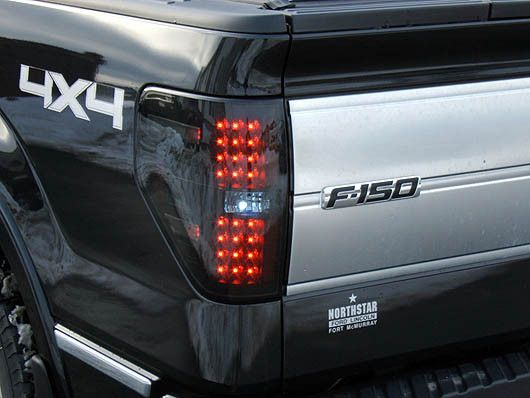 RECON Part # 264168BK Smoked Ford F150 Platinum 2009 2010 2011 2012 Raptor LED Tail Light