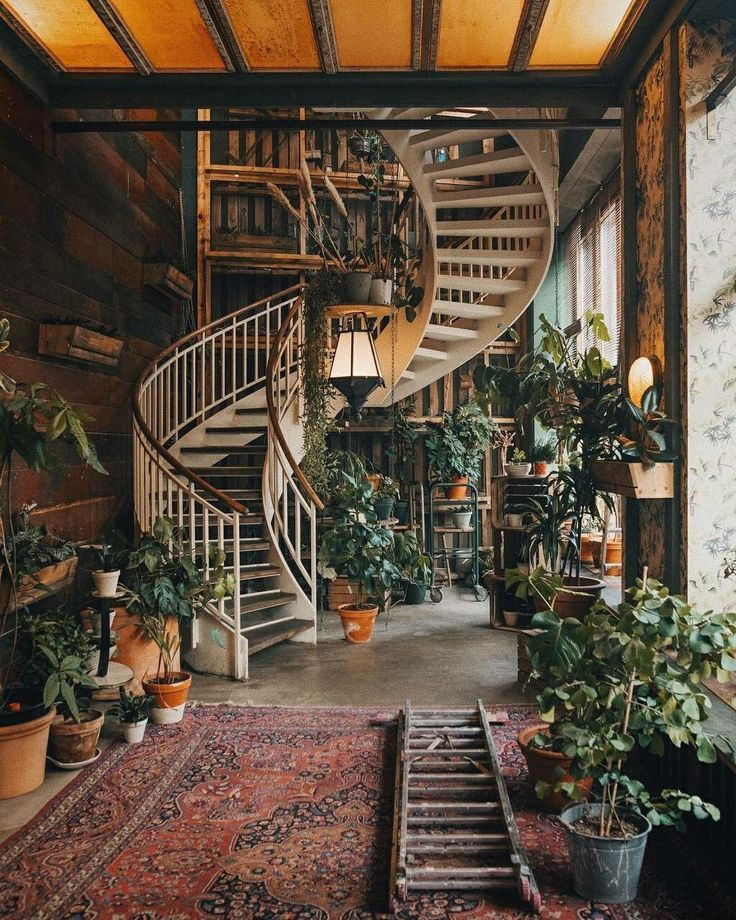but conversely, like: The lower part is the master bedroom and upstairs are all the lights and plants