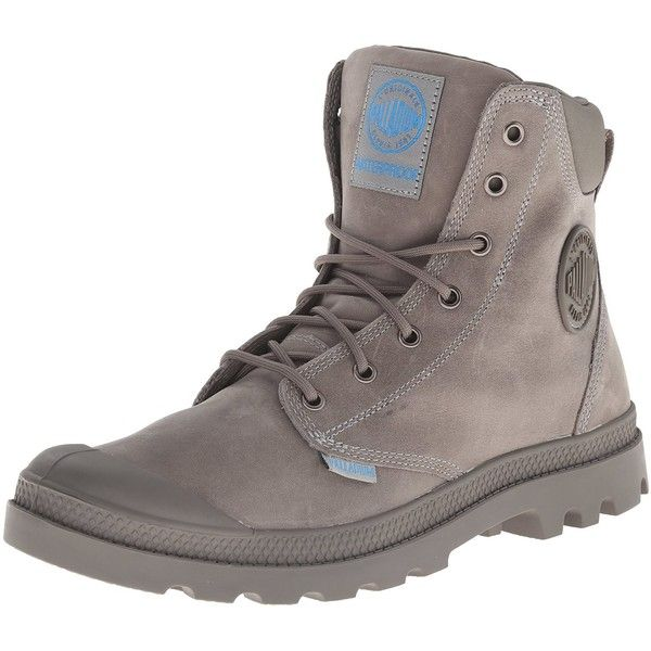 Amazon.com: Palladium Men's Pampa Cuff WP Lux Rain Boot, Moss Gray, 11... ($78) ❤ liked on Polyvore featuring men's fashion, men's shoes, men's boots, mens grey shoes, mens wellies rain boots, mens rain boots, mens boots and mens rubber boots