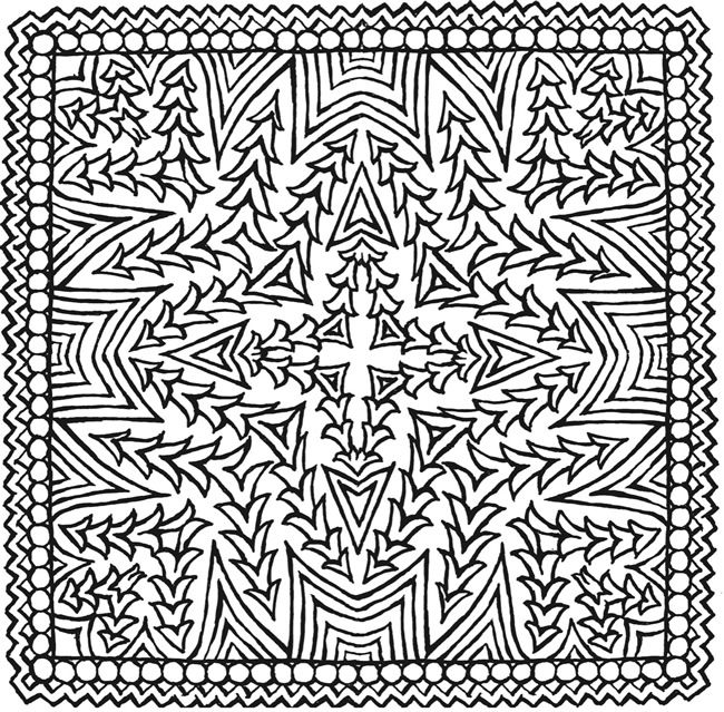 Square Mandalas 1 Adult Color