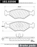 Brand:Centric Part Number:102.03500 Category:Brake Pad  Price :$12.06 2 Years Warranty