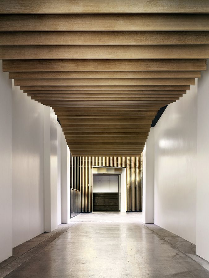 Corridor Design Ceiling: Paper Weight: Kengo Kuma