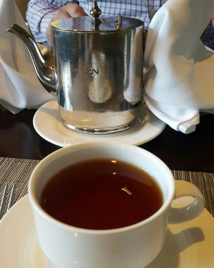 Fairmont tea served in a Canadian National siver teapot. Chateau Laurier. Ottawa Ca