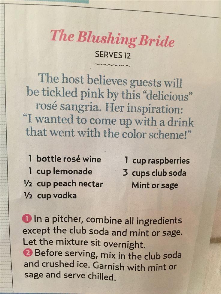 "Lauren Conrad's ""Blushing Bride"" cocktail                                                                                                                                                                                 More"