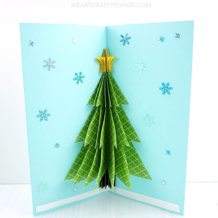 How To Make A 3d Christmas Card 3d Christmas Cards Christmas Tree Cards Clever Christmas Cards