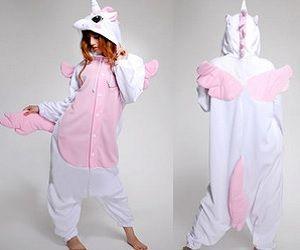 Unicorn Onesie~ @Heather Witt you need this.