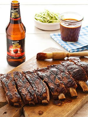 Smashed Apple Cider BBQ Ribs| Great Ideas -pedro's birthday! amazeballs. we didn't even grill them but added the bbq sauce at the end. Used the big roaster.