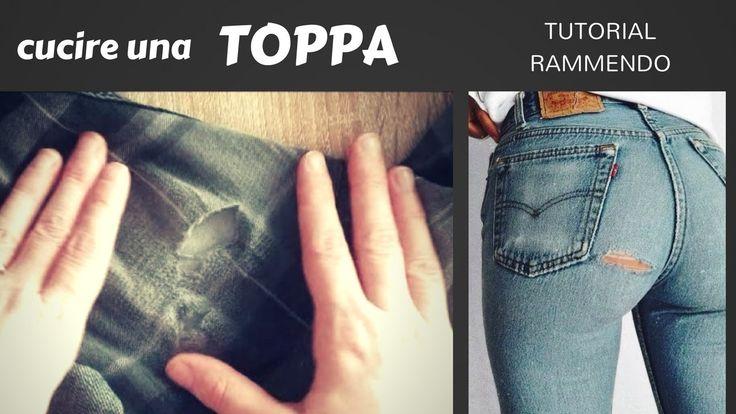 cucire una TOPPA INVISIBILE - tutorial RAMMENDO